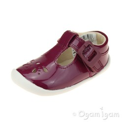 Clarks Roamer Star Infant Girls Plum Shoe