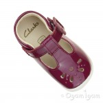 Clarks Roamer Star Infant Girls Plum Shoe