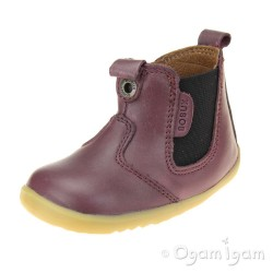 Bobux Jodhpur Girls Plum Shoe