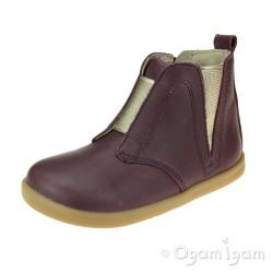 Bobux Signet Infant Girls Plum Boot