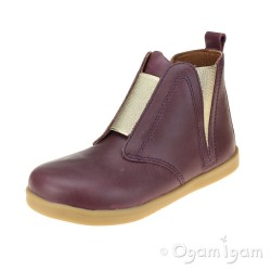 Bobux Signet Girls Plum Boot