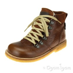 Angulus Waterproof Lace Up Boot Cognac Warm-lined Waterproof Boot
