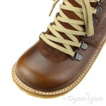 Angulus Waterproof Lace Up Boot Cognac Warm-lined Waterproof Boot