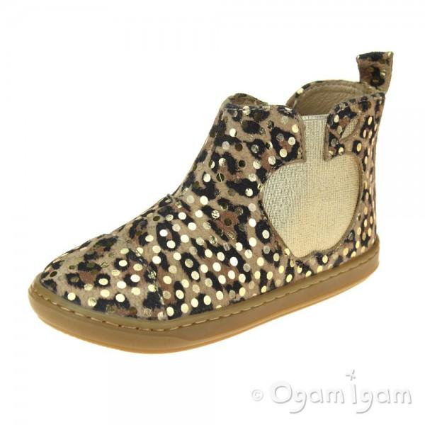 Shoo Pom Bouba Apple Girls Leo-Gold Boot