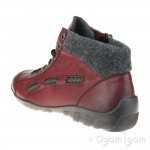 Rieker L654335 Womens Wine Red Ankle Boot