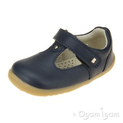 Bobux Louise Infant Girls Navy T-bar Shoe
