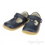 Bobux Louise Infant Girls Navy T-bar Shoe