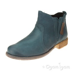 Josef Seibel Sienna 45 Womens Petrol Green Ankle Boot