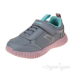 Geox Waviness Girls Grey-Rose Trainer