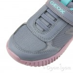 Geox Waviness Girls Grey-Rose Trainer