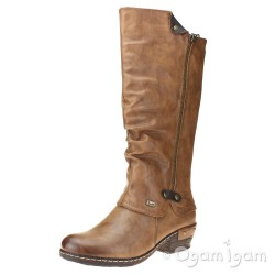 Rieker 9365526 Womens Tall Brandy Boot