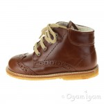 Angulus Wool Lined Lace Up Boot Girls Boys Brown Boot