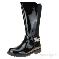 Lelli Kelly Marylin Girls Black Patent Boot