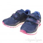 Geox Pavel Girls Navy-Purple Trainer