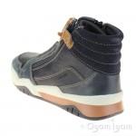 Geox Perth Boys Navy-Light Brown Boot