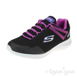 Skechers Ultra Flex Rainy Daze Girls Black-Hot Pink Waterproof Trainer