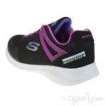 Skechers Ultra Flex Rainy Daze Girls Black-Hot Pink Waterproof Trainer