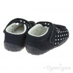 Start-rite Wiggle Infant Girls Navy Polka Dot Shoe