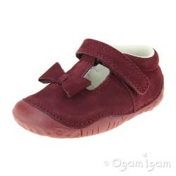 Start-rite Wiggle Infant Girls Dark Cherry Shoe
