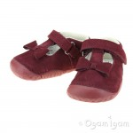 Start-rite Wiggle Infant Girls Dark Cherry Shoe