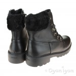 Geox Casey Girls Black Ankle Boot