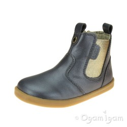 Bobux Jodhpur Boot Girls Charcoal Grey Shimmer Boot