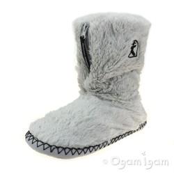 Bedroom Athletics Marilyn Womens Trace Grey Boot Slipper