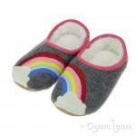 Joules Slippet Rainbow Girls Grey Slipper