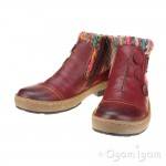 Rieker Z675935 Womens Wine Red Ankle Boot
