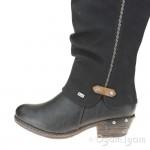 Rieker 9365500 Womens Black Waterproof Warm-lined Tall Boot