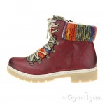 Rieker Y943235 Womens Wine Red Warm-lined Ankle Boot