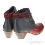 Rieker Y721135 Womens Wine-Navy Ankle Boot