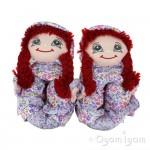 Lelli Kelly Doll Slipper Girls Red Slipper
