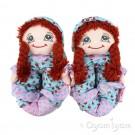 Lelli Kelly Doll Slipper Girls Brunette Slipper