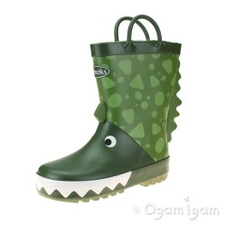 Chipmunks Darcy Boys Girls Green Wellington Boot