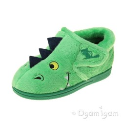 Chipmunks Scorch Boys Girls Green Slipper