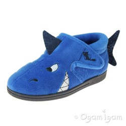 Chipmunks Sharky Boys Girls Blue Slipper