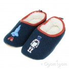 Joules Slippet Rockets Boys Navy Slipper