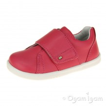 Bobux Boston Girls Geranium Red Shoe