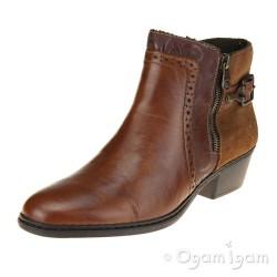 Rieker 7558524 Womens Muskat Brown Ankle Boot