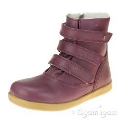 Bobux Aspen Girls Plum Warm-lined Ankle Boot