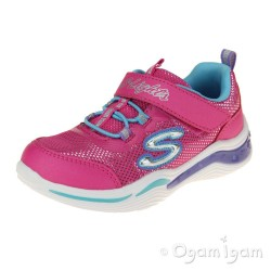 Skechers S.Lights Power Petals Girls Neon Pink-Multi Trainer