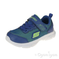 Skechers Advance Intergrid Boys Blue-Lime Green Trainer