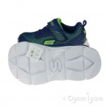 Skechers Advance Intergrid Boys Blue-Lime Green Trainer