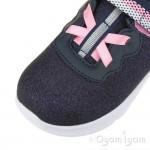 Skechers Comfy Flex Lucky Sparkles Girls Navy Trainer