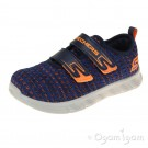 Skechers Comfy Flex Double Blast Boys Navy Blue Trainer