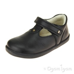 Bobux Louise Girls Black T-bar School Shoe