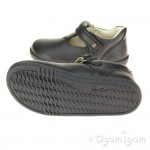 Bobux Louise Girls Black T-bar School Shoe