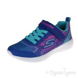Skechers Go Run600 Radiant Runner Girls Blue-Multi Trainer
