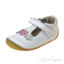 Clarks Tiny Sun Infant Girls White Shoe